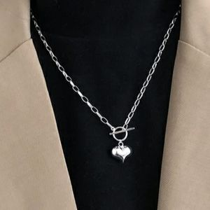 NEW 925 STERLING SILVER PLATED LINK HEART NECKLACE